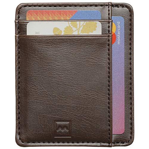 68a53ccb2e Mercor Portafoglio Uomo Piccolo Porta Carte di Credito RFID |Porta Tessere  Sottile in Pelle PU