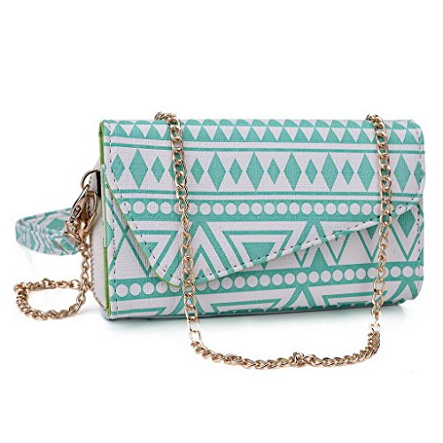Kroo Pochette/étui style tribal urbain pour Acer Liquid Z520 Multicolore - Noir/blanc Multicolore - White with Mint Blue