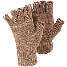 FLOSO - Mitones/Guantes sin dedos de invierno para Mujer/Señora