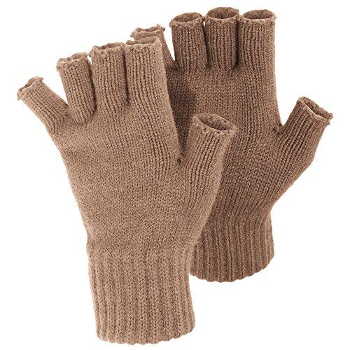 FLOSO-LadiesWomens-Winter-Fingerless-Gloves