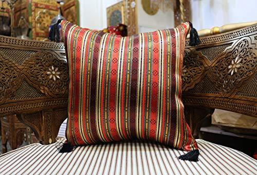 40x40 cm Orientalische Kissenhülle, Deko-Kissen,diverse Muster mit vielen Farben, - rot, blau, grün, gelb, weiß, lila, pink - daher in jedes Ambiente passend, Zierkissen, orientalischer Stoff S 4083