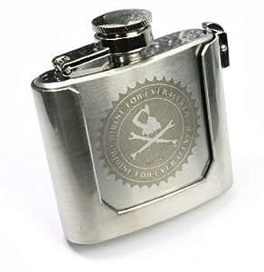 Boucle de ceinture de marque Qhuit en forme de flasque à whisky - acier inoxydable