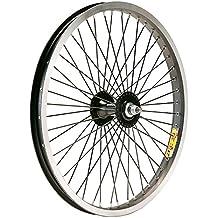 Gurpil 64235 Rueda, Delantero, BMX, 20 x 2.125, Carrete, Aluminio, Eje 9.5-36, Multicolor
