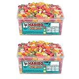 HARIBO Jelly Beans Sweets, bulk tub sweets, 1080g x 2 tubs (2160 kg)
