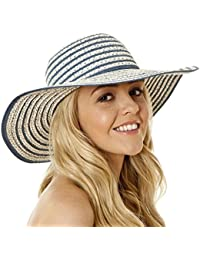 i-Smalls Ladies Womens Shapeable Foldable Wide Brim Paper Summer Sun Hat LS2212