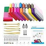 Polymer Ton 24 Farben Clay, WonderforU Fimo Ofen backen Lehm Kinderknete und Werkzeuge (24 Farben)