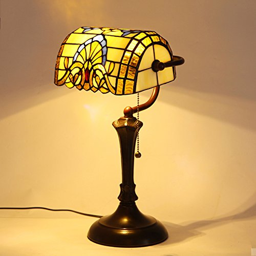 Lampada stile tiffany/lampada biblioteca barocca/ american vintage camera da letto comodino lampada-a