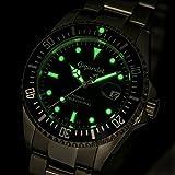 Gigandet Automatik Herren-Armbanduhr Sea Ground Taucheruhr Uhr Datum Analog Edelstahlarmband Blau Silber G2-009 - 4