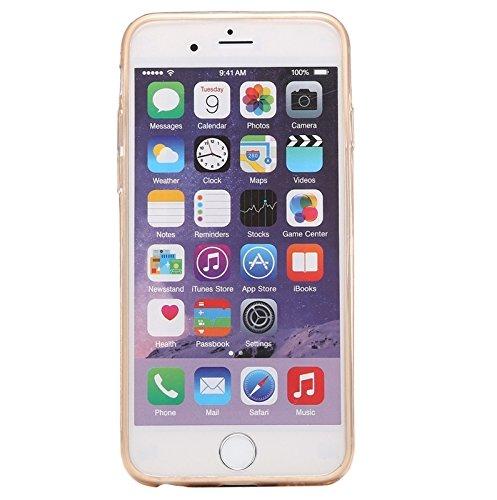 YAN Für IPhone 6 / 6S, 0.3mm Ultradünner transparenter weicher TPU schützender Fall ( Color : Black ) Gold