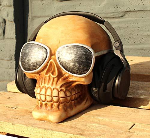 Totenkopf mit Sonnenbrille Kopfhörerständer Skull Totenschädel (Skull Sonnenbrille)