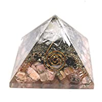 Orgonite Pyramid - Rodhocrosite + Black Touramaline + Selenite 3-3.5 inch Chakra & Reiki Healing Aura Cleansing... preisvergleich bei billige-tabletten.eu