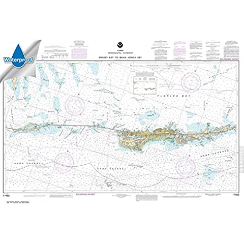 NOAA Chart 11453: Florida Keys Grassy Key to Bahia Honda Key, 26.6 X 39.4, WATERPROOF by NOAA