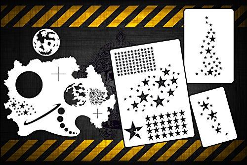 airbrush-stencils-fx-space-n-stars-set-of-4