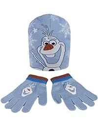 Cerdá - Ensemble bonnet, écharpe et gants - Fille multicolore Conjunto gorro guantes Frozen Olaf Disney