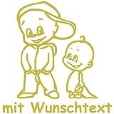Babyaufkleber Autoaufkleber für Geschwister mit Wunschtext - Motiv Z38-JJ