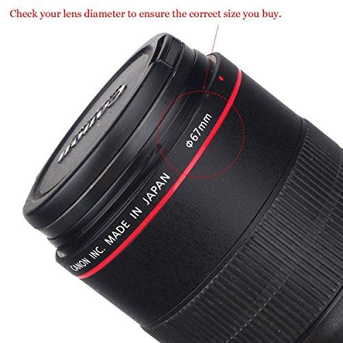Reversible Tulpe Blume Gegenlichtblende für Canon Nikon Sony DSLR + Center Pinch Objektivdeckel mit...