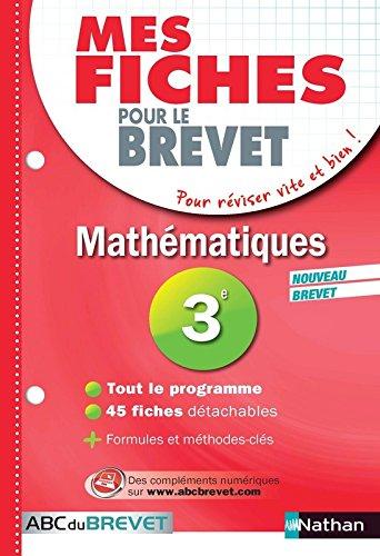 Mes Fiches ABC du BREVET Mathématiques 3e