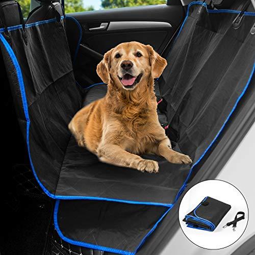 Kupton Coprisedile Auto per Cani, Copri Sedile per Animali Domestici Resistente agli Urti e AntiGraffio e Antiscivolo Protezione Antiscivolo per Sedile Posteriore per Furgoncini e SUV