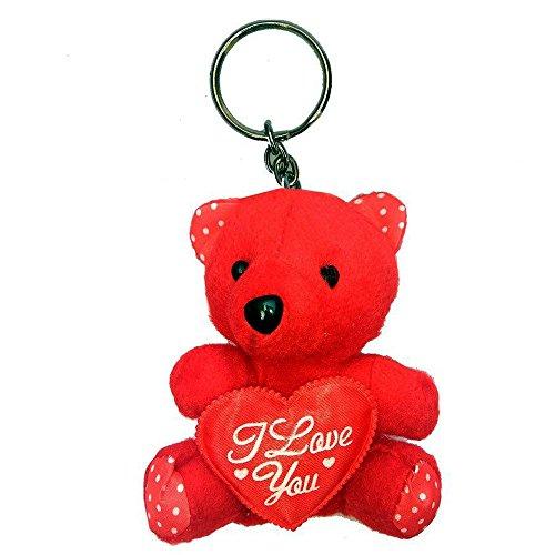 PG Creations Keychains - Teddy Bear Heart Love Romance Couple Love Cute Bag Car Bike Metal Keychain | Key ring | Keychains | Keyrings for Girlfriend | Boyfriend | Husband | Wife | Boys | Girls  available at amazon for Rs.86