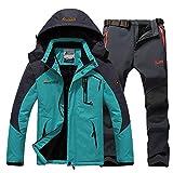 GoodLuckShop Winter Ski Jacke Anzüge Männer Wasserdichte Fleece Schnee Thermo Jacke Outdoor Mountain Ski Snowboard Soft Shell Hosen Anzüge