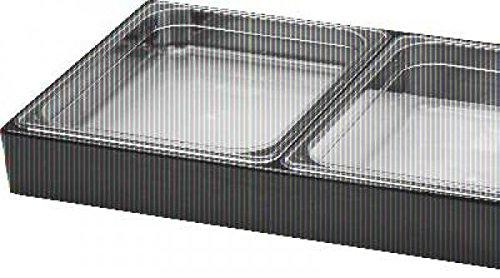 Buffett-Display für GN 2×1/2 – 65-150 mm – Acryl, schwarz