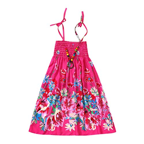 Frashing Infant Sommer Kinder Mädchen Baby Kleidung Vestidos Floral Böhmischen Strand Riemen Kleid Urlaub Stil Sling Schlauchoberseite Kleid -