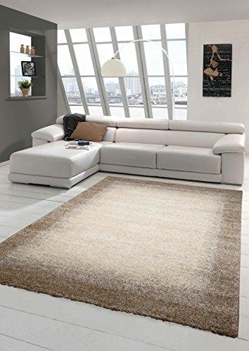 Designer Teppich Moderner Teppich Wohnzimmer Teppich Kurzflor Teppich Barock Design Meliert mit...