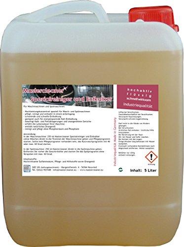 Mastercleaner Spülmaschinen Waschmaschinenreiniger und Entkalker mit Aktivschaum ohne Biozide 5 Liter