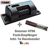 Sommer Funkempfänger Set inkl. Handsender 4020 mit 868,8 MHz - Universal Funk Empfänger Garagentoröffner