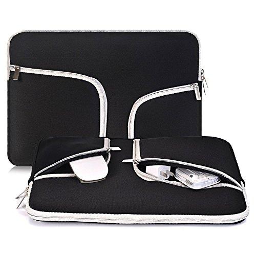 Egiant Funda protectora para portátil de 14-15.4 pulgadas para Macbook pro 15 Retina / Touch Bar A1707 / Chromebook 14 / Stream 14, Estuche portátil para computadora resistente al agua,Negro