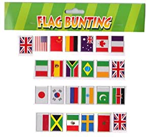 25 Multi Nation Country Flag of the World Olympic Bunting