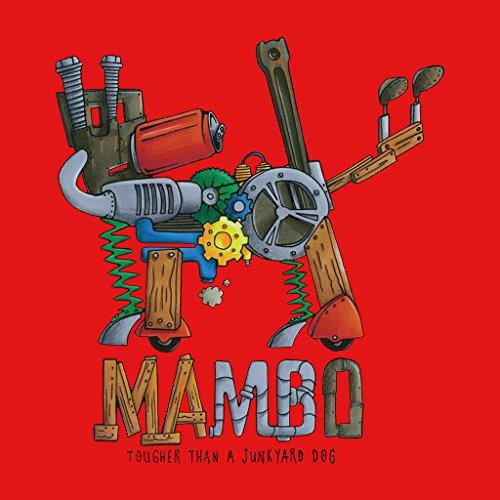 Mambo Junk Yard Dog Womens Hooded Sweatshirt Red