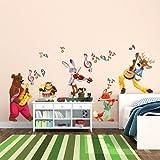 kina R00320 Stickers muraux pour Enfants imprimé sur papiers Peints - Le Gang de Musiciens