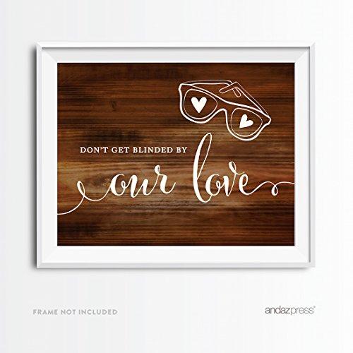 eit Party Schilder, rustikale Holz Print, Final Lager Set Favors Sunglasses ()