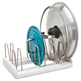 #7: sagrach Store More Adjustable Lid Holder Dish Holder