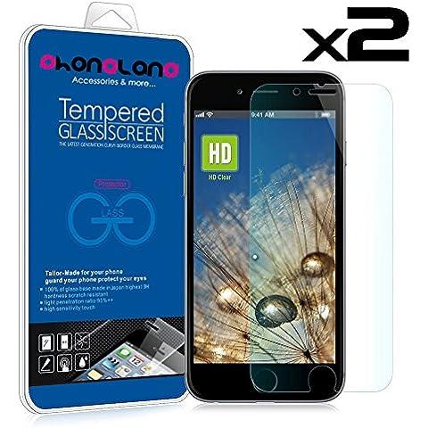 PACK 2 UNIDS - 2 x Film Protector de cristal templado para Apple iPhone 5 / 5S