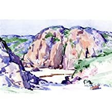 Cattle On The Dunes, Iona - By Francis Campbell Bolleau (F.C.B.) Cadell - impressions sur toile 24x16 pouces - sans cadre