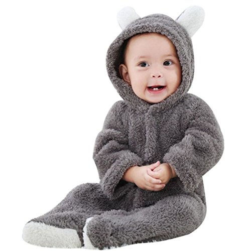 pler,Hankyky Baby Mädchen Junge Spielanzug Flanell Baumwolle Winter Overall Tier Kostüme Hooded Bekleidung Outfits 0-12 Monate (Tier-outfits)