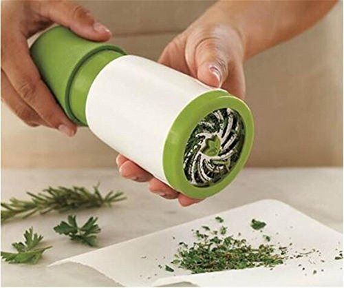 Herb Mill Grinder Minze, Oucles Mincer Petersilie Raspel Shredder Obst Gemüse Cutter Pollen Tabak Spice Catcher Presser Chopper Scraper Kitchen Tool (weiß grün) - 5-zoll-spice Grinder