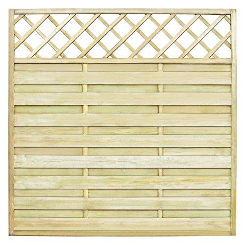 Galleria fotografica vidaXL Pannello recinzione quadrato da giardino con tralliccio legno 180 x 180cm