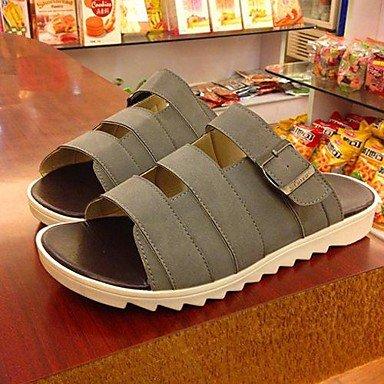 Hommes décontractées sandales en simili cuir noir/bleu/marron/vert/gris/beige Gray
