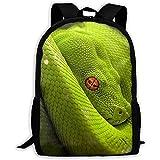 Cobra Rassel Snake Eyes Python Leichte wasserdichte Schulrucksack College Book Taschen Reiserucksack...