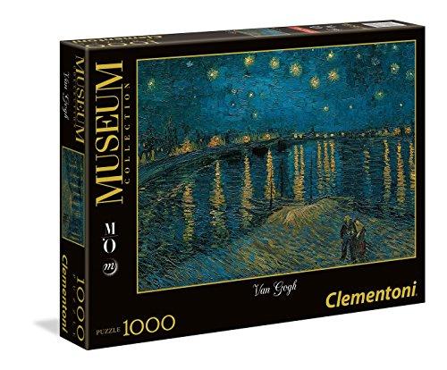 Clementoni 39344.2 - 1000 T Musee D'Orsay van Gogh-Sternennacht über der Rhone, Puzzle