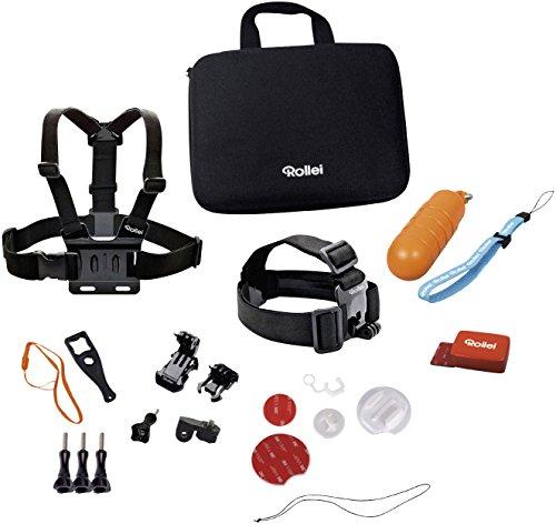 Rollei Actioncam Zubehör Set Wassersport - 22-teiliges Set, ideal zum Surfen, Tauchen, Kiten usw - Für Rollei Actioncams und GoPro