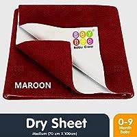 Bey Bee Baby Waterproof Bed Protector Sheet - Medium (Maroon)