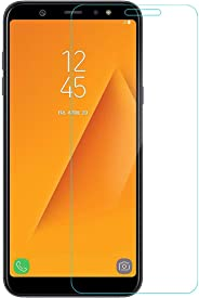 Amazon Brand - Solimo Tempered Glass for Samsung Galaxy A6 Plus with Installation Kit (Clear)
