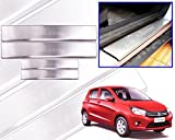 Premium Quality Car Door Stainless Steel Scuff Plate Foot Steps For-Celerio