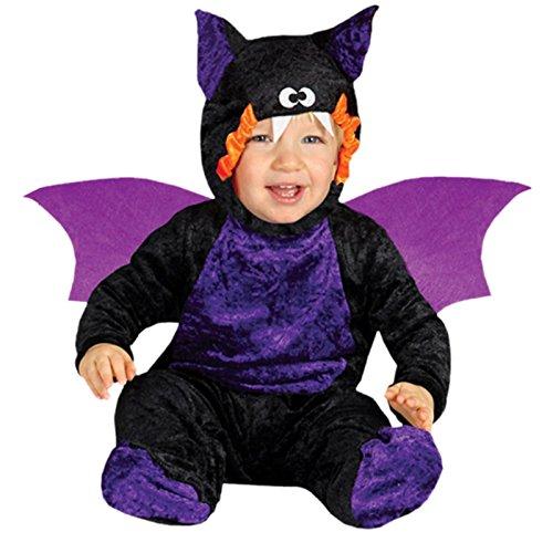 Baby Fledermaus Kostüm Halloween Babykostüm Halloweenkostüm Kinder Gr. 74-92, (Et Halloween Für Baby Kostüm)