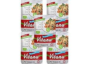 Vitanu Organic Shirataki Noodles Spaghetti, 5er Pack (5 x 200g)