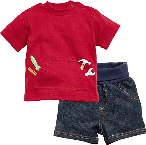 Schnizler Baby-Jungen Bekleidungsset 2-teilig Heimwerker, T-Shirt und Shorts Blau 7, 56